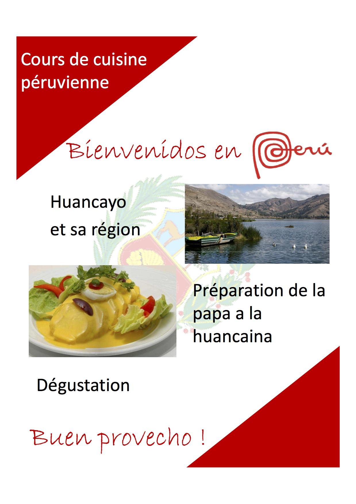Cours de cuisine p ruvienne espagnol espagnol - Cours de cuisine confluence ...